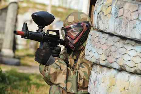 Unreal Paintball - Paintball session plus lunch and 100 paintballs for five - Save 91%