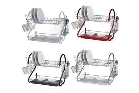 RS Communications - Two Tier Dish Drainer in Four Colours - Save 72%