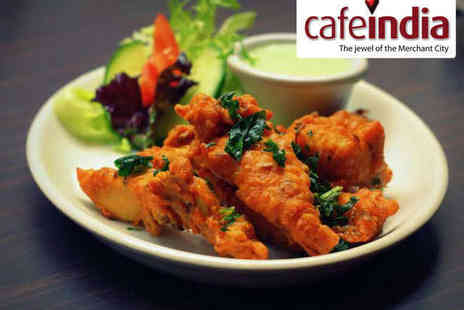 Cafe India - Starter, Main and Rice or Naan Each for Two People - Save 64%