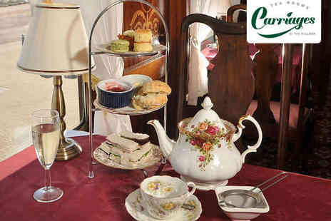 Carriages - Afternoon Tea for Two - Save 53%