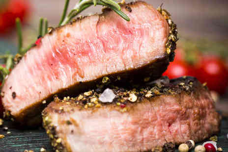 The Green Jacket Restaurant - 8oz Sirloin Steak with Side and Quarter Bottle of Wine Each for Two - Save 51%