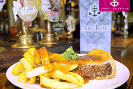 The Crown and Anchor - Two Homemade Pies with Chips and Gravy - Save 50%