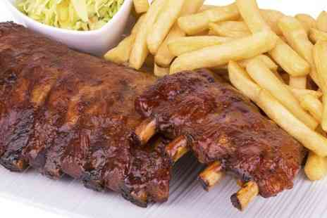 Blushh Wine Cocktail and Food - Rack of Ribs or Pork Fillet With Wine For Two - Save 58%