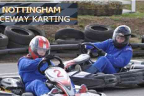Nottingham Raceway Karting - 35 laps in a petrol kart around a 400m track - Save 61%