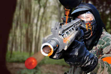 NPF Bassetts Pole - Paintball Day with Nine Games 100 Paintballs, and Lunch for One- Save 73%