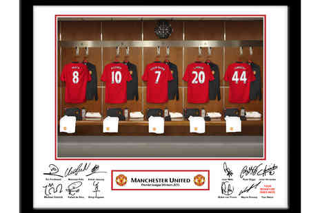 UR InThePaper - Personalised Football Club Dressing Room Framed Picture - Save 50%