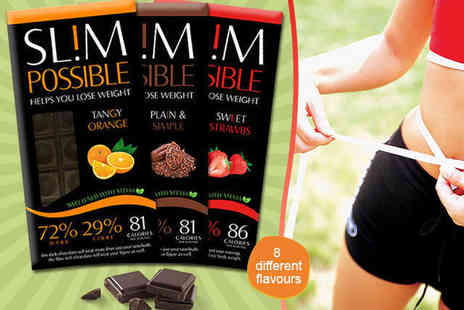 Slim Possible - Eight Bar Pack of  Slim Possible Chocolate - Save 54%
