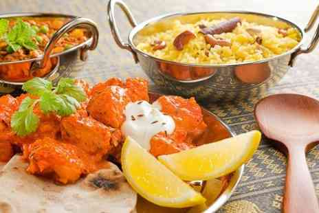 spicy aroma - Two Course Indian Meal With Wine or Beer For Two - Save 59%