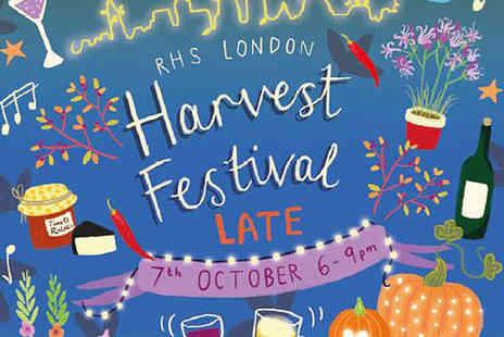 Royal Horticultural Society - Tickets to RHS London Secret Garden Sundays or RHS London Harvest Festival Late - Save 20%