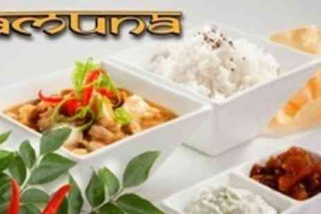 Jamuna Indian Restaurant - Two Course Indian Meal With Sides Rice and Coffee For Two - Save 64%