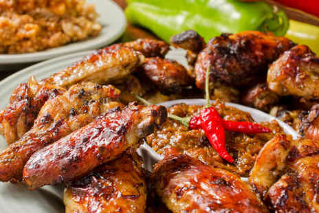 Dutchys Jamaican Jerk Shack - Vibrant Jamaican Dining with Cocktails for Two - Save 50%