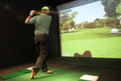 The Golf Lounge - Golf Simulator Session for Four with a Burger Each - Save 55%
