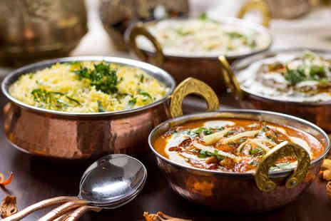 The Roopsha - Delectable Indian Meal with Wine for Two - Save 53%