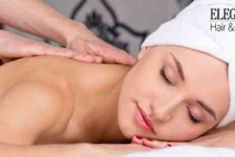 Elegance Hair and Beauty - One Hour Full Body Massage and One Hour Facial - Save 68%