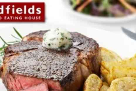 Oldfields Noted Eating House - Two Course British Meal For Four With Wine - Save 66%