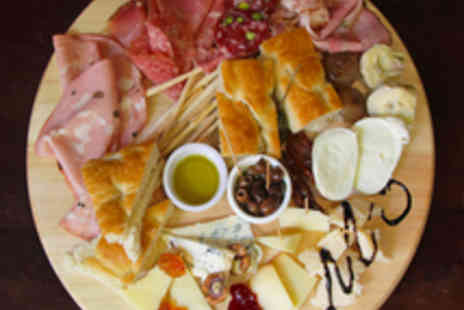 Veeno The Italian Wine Cafe - Large Italian Sharing Platter with Sorbet and Wine for Two - Save 55%