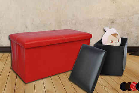 ASD Global Imports - Faux Leather Ottoman Bench or Cube - Save 58%