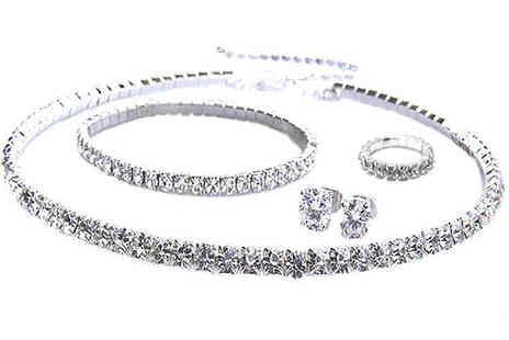 Platinum Bay Group - Classic Crystal Quad Set with Swarovski Elements - Save 84%