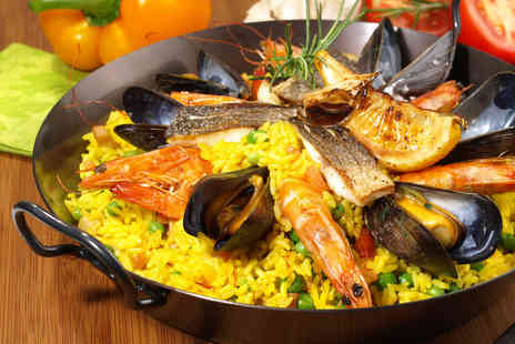 3 Amigos - Paella meal for 2 including glass of sangria each - Save 53%
