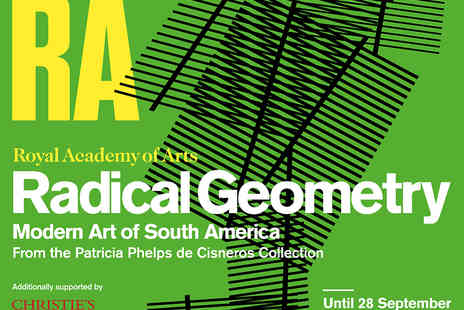 The Royal Academy Of Arts - Entry to Radical Geometry   - Save 34%