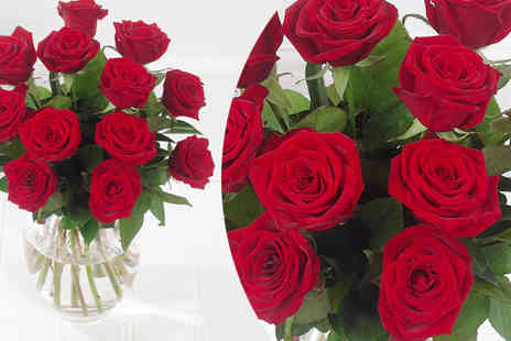 Beaulily - 12 Luxury Grand Prix Red Roses - Save 48%