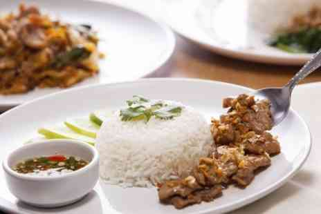 Siam Thai Lounge -  Two Courses With Rice and Wine For Two - Save 57%