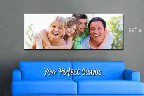 Your Perfect Canvas - Personalised 30 x 10 inch Panoramic Canvas  - Save 76%
