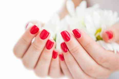Bounce Hair and Beauty - Manicure or Pedicure Plus Gellux Polish  - Save 60%
