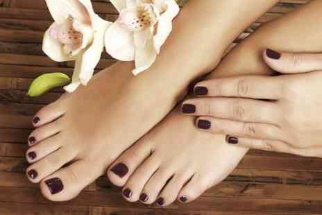 Beauty Basic - Shellac Manicure  Plus Pedicure - Save 55%