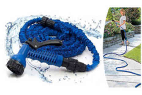 Spice Hot - 30m expandable garden hose w gun  - Save 50%
