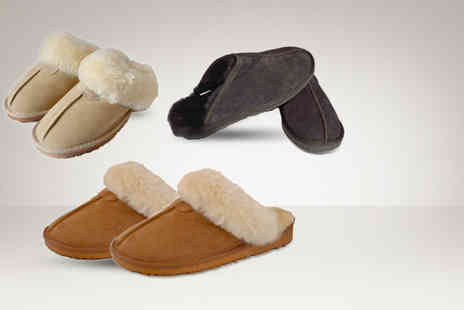 Evaniy Accessories - Pair of sheepskin mens or womens slippers  - Save 66%