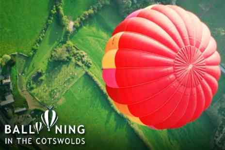 Ballooning In The Cotswolds - One Hour Hot Air Balloon Flight for Two with Champagne - Save 62%