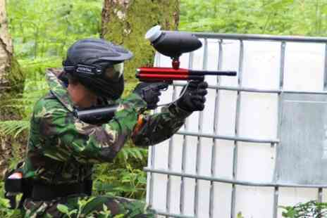 Camouflage Paintball - Five Paintball  With Pizza and 100 Rounds of Ammo - Save 73%