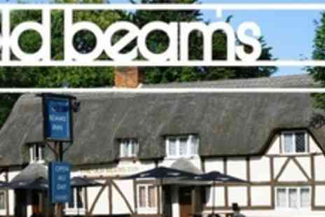 The Old Beams Inn - Two Courses of Gastro Pub Fare With Wine For Two - Save 56%