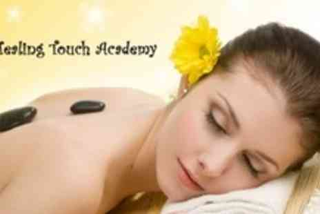 Healing Touch Academy - Deep Tissue Hot Stone Massage With Choice of Dermalogica Facial- Save 63%