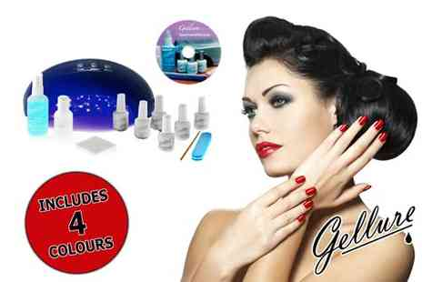 Gellure -  L.E.D polish home and salon starter kit - Save 70%