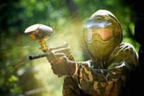 Skirmish Paintball Games - Paintballing for 5 with 100 balls - Save 92%