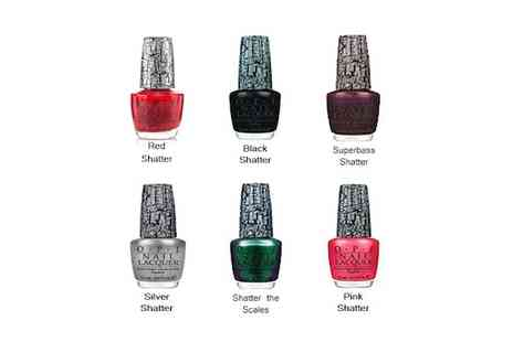Just She Cosmetics - Six OPI crackle nail varnishes - Save 86%