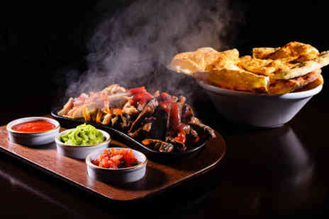 Sombrero Bar & Grill -  Mexican meal for two including starter, main course and bottle of Sol each - Save 34%