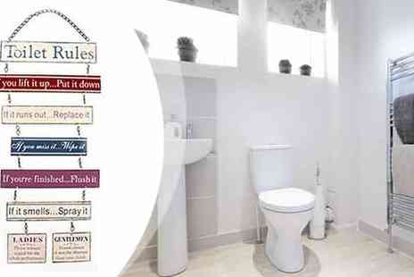toolcollectionuk direkt2publik - Hanging Toilet Rules Sign for the Bathroom - Save 51%