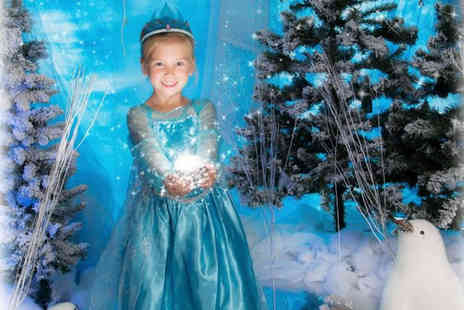 Jason Walker Photography Studio - Frozen inspired ice princess photoshoot and A3 print for up to three - Save 89%