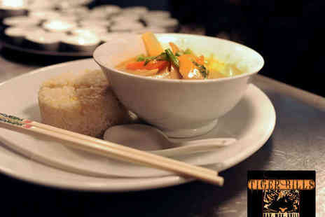 Tiger Bills - Two Course Thai Meal with Wine or Beer for Two - Save 52%