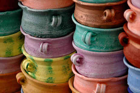 The Crafty Cafe - Pottery Painting Class for Two - Save 50%