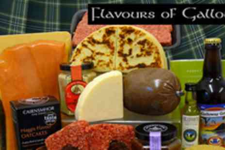 Flavours of Galloway - Burns Night Hamper, including whisky, haggis, lager, meat, cheese & condiments - Save 60%