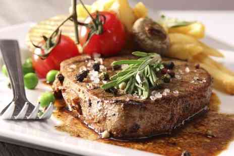 The William B - Two Course Rib Eye Steak Meal With Prosecco For Two - Save 50%