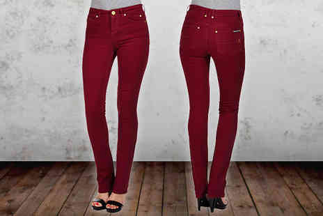Ruby London -  Vera Claret Jeans - Save 77%