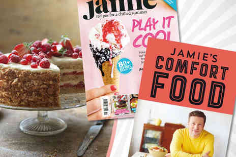 Jamie Oliver - One Year Subscription to Jamie Magazine Plus Copy of Jamie's Brand New Comfort Food Book - Save 60%