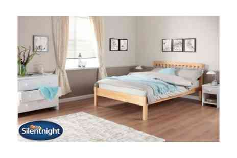 FWG Sales - Single Silentnight pine bed frame  - Save 30%