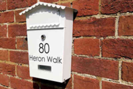 Your House Sign - A Personalised Post Box in a Choice of Black or White - Save 56%