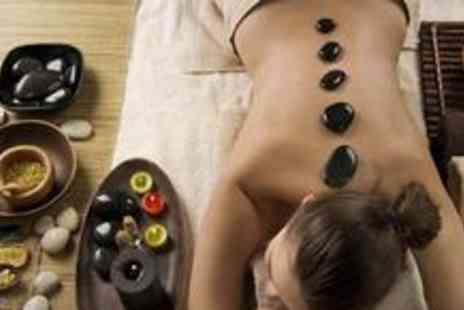 Brown Cow Salon - Back, neck and shoulder hot stone massage, a facial and a scalp massage - Save 72%